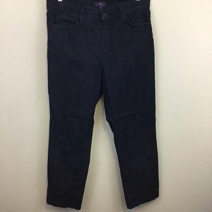 NYDJ Dark Wash Denim High Rise Ankle Jean - 14